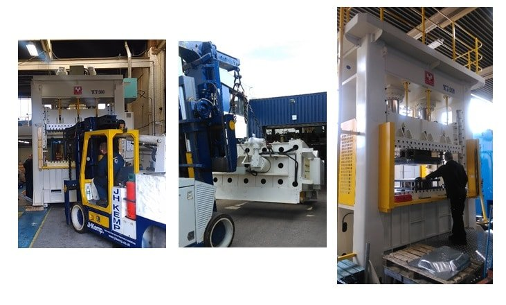 PAB takes delivery of new hydraulic press