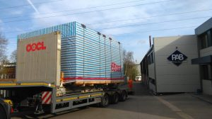PAB's new Hydraulic Press being delivered