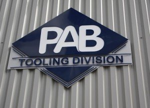 PAB tooling division sign